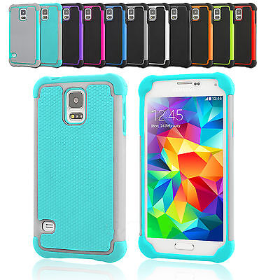 Premium Hybrid Rubber Heavy Duty Shockproof Case Cover For Samsung S7 S6 Edge S5