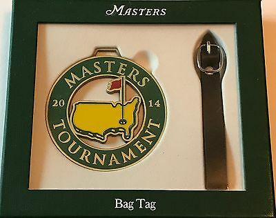2014 Masters Bag Tag Augusta National golf new Bubba Watson wins