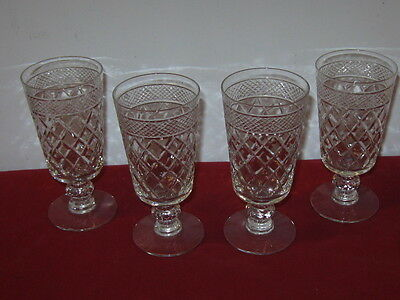 "Duncan Miller Glass   ""stratford""   Sherry - Juice Glasses  --  4"