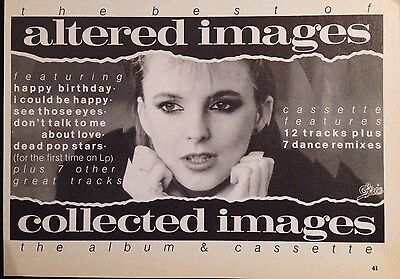 ALTERED IMAGES / CLARE CROGAN - HALF PAGE ADVERT FROM 1980s No1 MAGAZINE