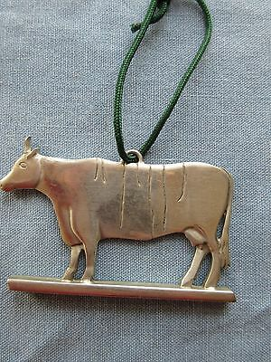 Reed And Barton Pewter Cow Ornament Vane Folk Art Collection