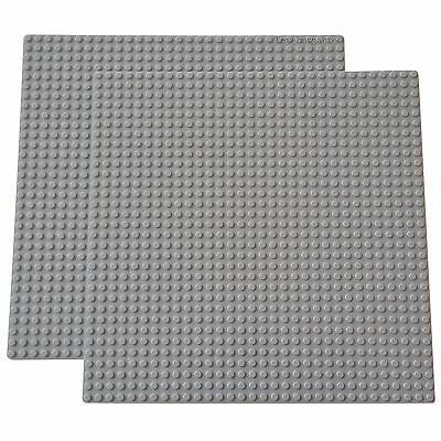 2 Grey 10x10-inch Brick Building Base plates compatible with LEGO 32x32-studs