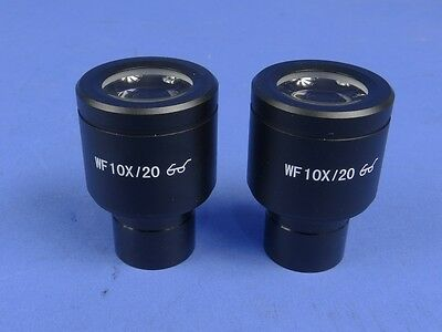 BEST NEW Bausch & Lomb Compatible 10x WF High Eyepoint Microscope Eyepieces 23mm