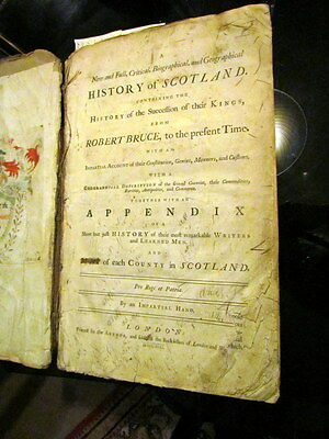 1749 HISTORY OF SCOTLAND  by An Impartial Hand (William Duff?). Scarce.