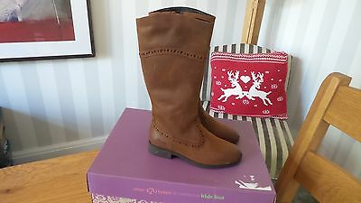 Clarks Sami Twist Girls Infant Size 11 Boots Brown Tan Leather Brand New RRP £52
