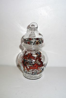 Vintage  Germany  Crystal Painted Apothecary Jar
