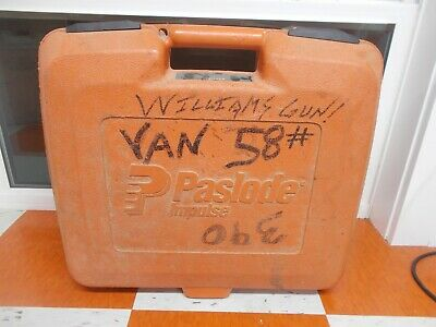 USED CASE  PASLODE Part #  900488 - Carrying Case for 900400 16 ga. straight nai