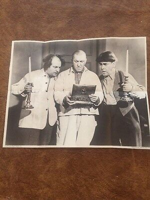 RARE 1977 THREE STOOGES POSTER POST CEREAL GIVEAWAY 'A Bird In The Head' NM