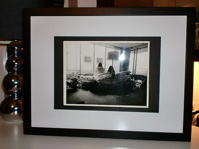 John Lennon,Beatles original Foto Daily Mirror Archiv 1969 Bed Peace,Hair Peace