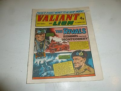 VALIANT & LION Comic - Date 17/08/1974 - UK IPC Paper Comic