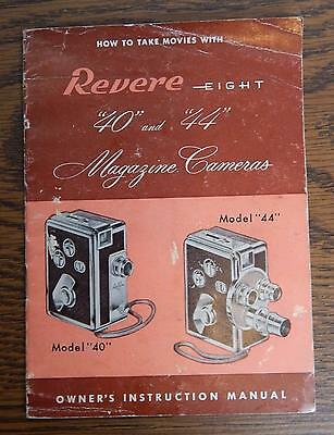 Circa 1955 Revere Eight 40 & 44 Magazine Cameras Owner's Instruction Manual