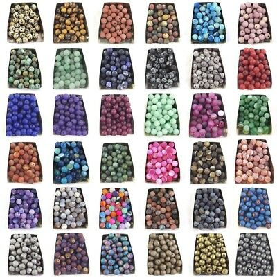 Series III lot natural matte gemstone spacer loose beads 4mm 6mm 8mm 10mm stone