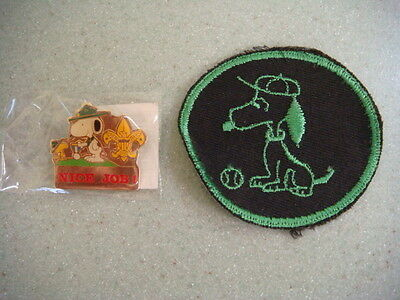 Snoopy patch and pin from boy scout jamboree