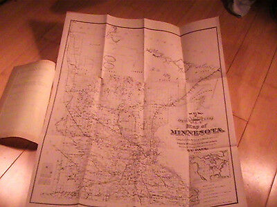 1878 Minnesota The Empire State Of The Northwest Immigration Map Railroad