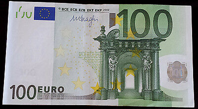 ***One E.U. 2002 Clean Circulated  100 Euro banknote paper money***