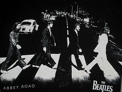 The Beatles Abbey Road Cotton T-Shirt, Black, Adult Small 34-36