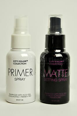 Face Primer Spray Matte Setting Spray City Color Primer Setting Set