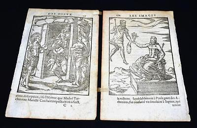 "Renaissance Engravings ""Images of the Gods of the Ancients"", 1581, V. Cartari"