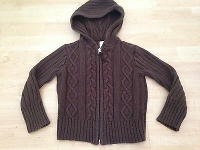 Old Navy Toddler 3 3T Hooded Brown Cardigan Sweater Girls Boys