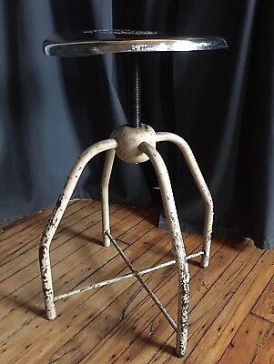 Mid Century Stool Medical  Swivel Industrial Chair Vintage Adjustable UMF Pa