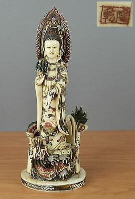 Nice Chinese Guanyin statue From french castle - Qianlong mark - 19th century