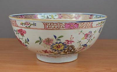 Beautiful Large Chinese Bowl Famille rose Yongzheng/Qianlong period 18thC