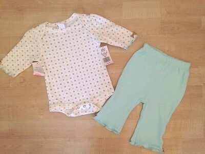 NWT Bon Bebe Outfit Pants One Piece Baby Infant Girl 3 6 3-6 Months