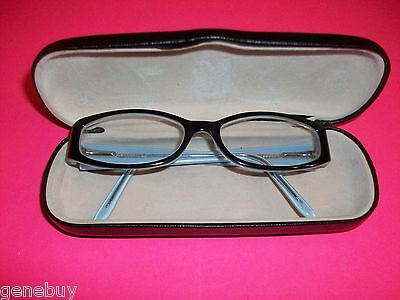Beautiful Womens MARCHON FRAMES Black Flowers Awesome