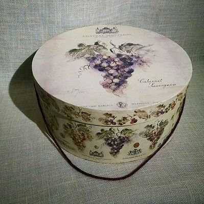 TRI-COASTAL HAT BOX 2003 Lauren Hamilton - Designed w/assorted Grapes