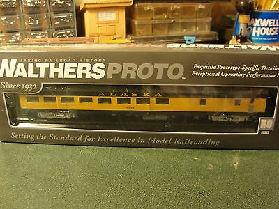 Walthers Proto HO 85 ACF Cafe -Lounge ALASKA LIGHTED 920-12700 new mint