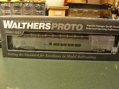 Walthers Proto HO 85 HI-Level Sky Lounge AMTRAK LIGHTED 920-14321 new mint