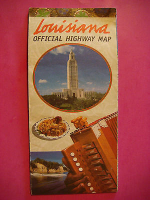 MAP ~ 1998 LOUISIANA Dept of Transportation and Development Official Highway Map