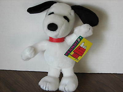 """Snoopy 8"""" Applause Peanuts Plush with Red Collar NWT"""