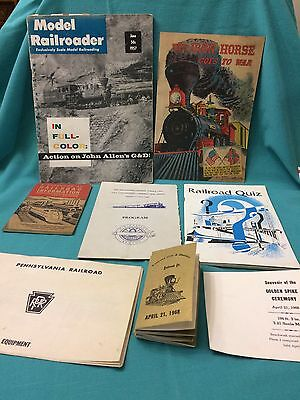 Lot Of 7 Vintage Train Catalogs From The 50-60 & 70's