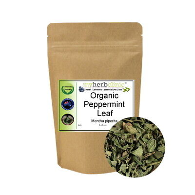 Peppermint Organic Leaf Herbal Tea Herb Infusion Naturopathically Prepared