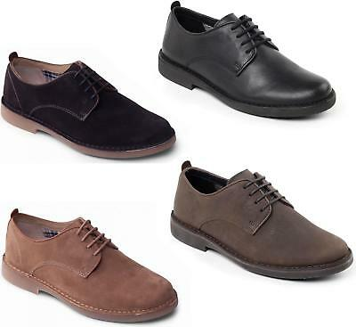 Padders JAMIE Mens Suede/ Leather Wide G Fit Office Lace Up Comfort Derby Shoes