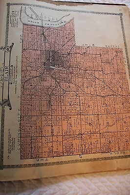 Washington County Nebraska 1920 -Blair Township Map
