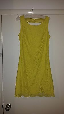 REVIEW yellow lace dress, size 10, Excellent condition