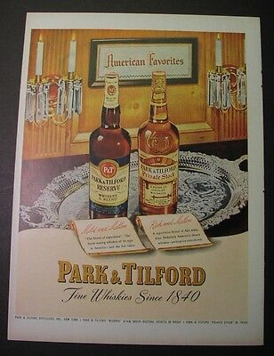 11 ads: PARK & TILFORD Whiskey, 1942-50; Reserve & Private Stock; 60+ years old