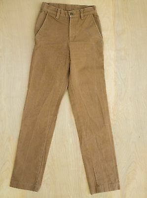 American Apparel AA USA heavy duck cotton canvas slim work pants brown 24x30