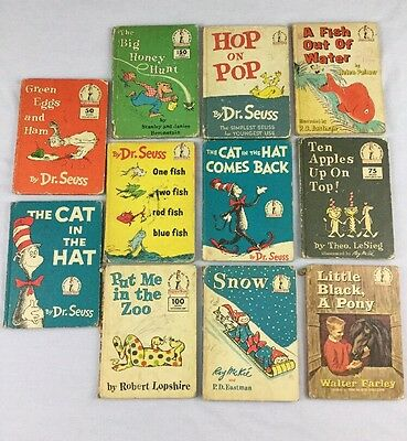 Dr Seuss Many First Edition Book Club Lot 1958-1962 Vintage Children's Books