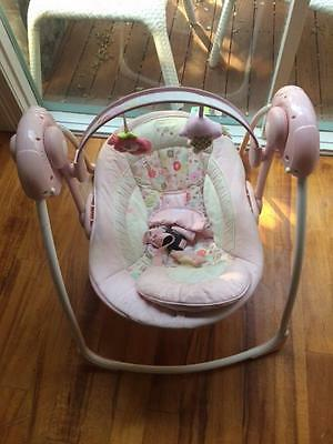 Battery operated baby rocker