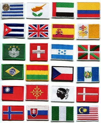 National flags emblem applique iron-on patch choose from 24 countries FM-2