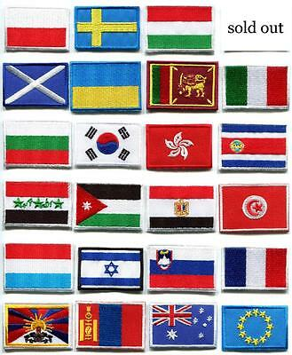 National flags emblem badge applique iron-on patch choose from 23 countries FM-3