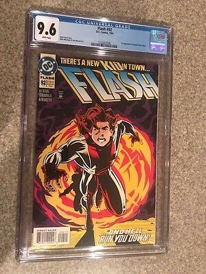 Flash #92 CGC 9.6 (2nd Series 1987) 1st appearance of Impulse Bart Allen