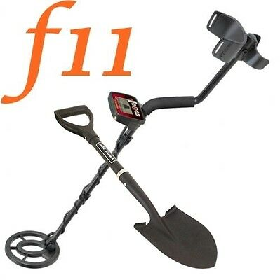Metal Detector Fisher F11 Search Metal Gold Coins + Shovel Digging All Black