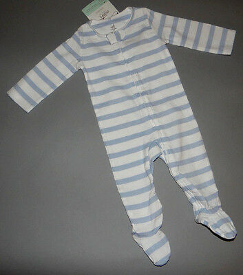 Baby boy clothes, 0-3 months, Adent Aden+Anais striped blue & white jumpsuit