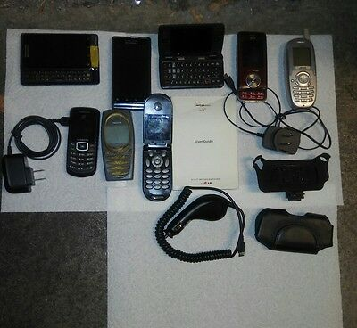8 Vintage Cell Phone Lot & more - Tracfone Verizon - Motorola LG Nokia