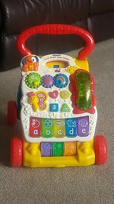 Vtech First Steps Baby Walker Sit To Stand Push Indoor Musical Activity Learning