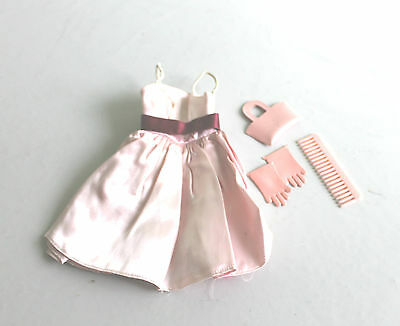 Vtg Ginny Dress, Gloves, Purse and Comb